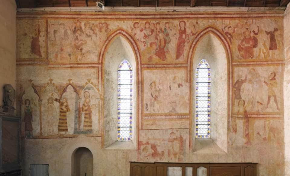 Peinture Eglise d'Asnieres