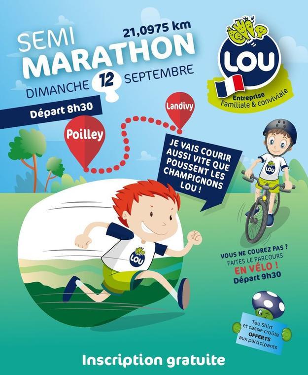 Semi marathon Lou légumes 12 septembre 2021