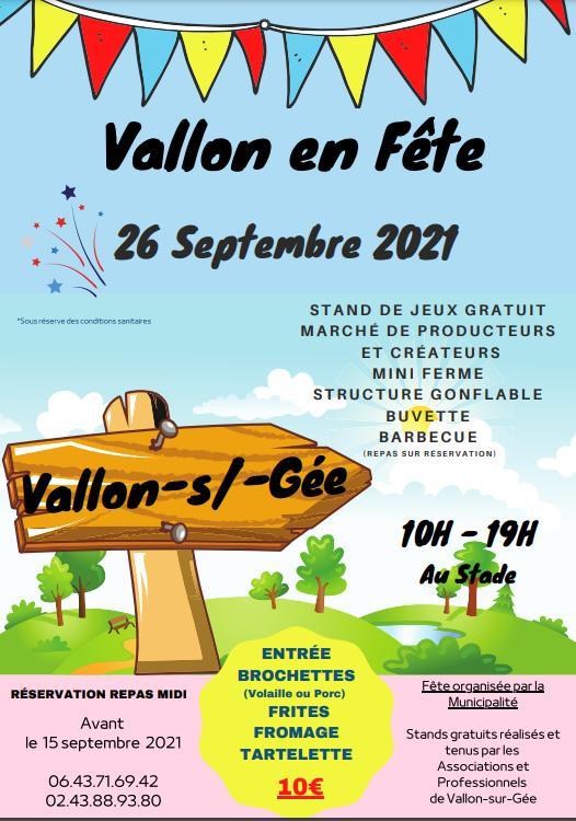 Vallon-sur-Gée en fête