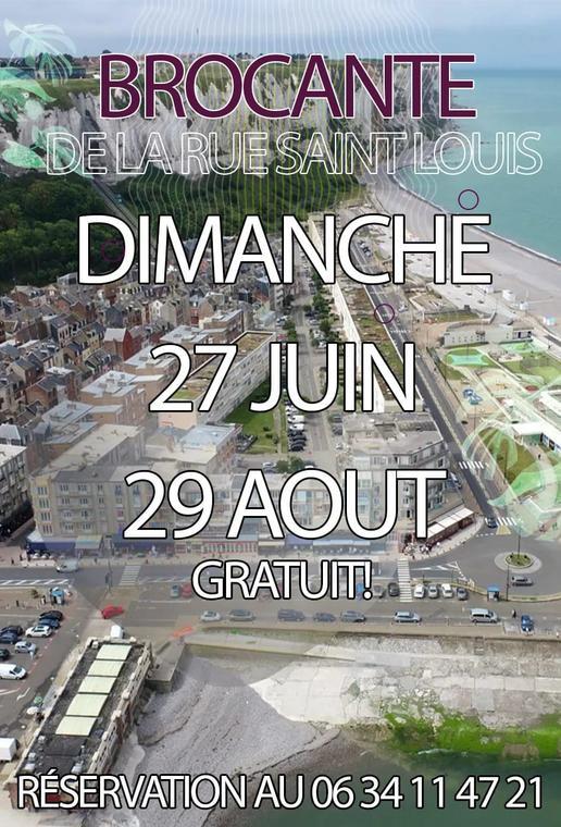 082921 - LE TREPORT - Brocante rue Saint-Louis