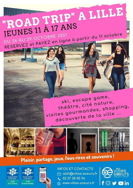 Affiche séjour road trip Lille - Automne 2021