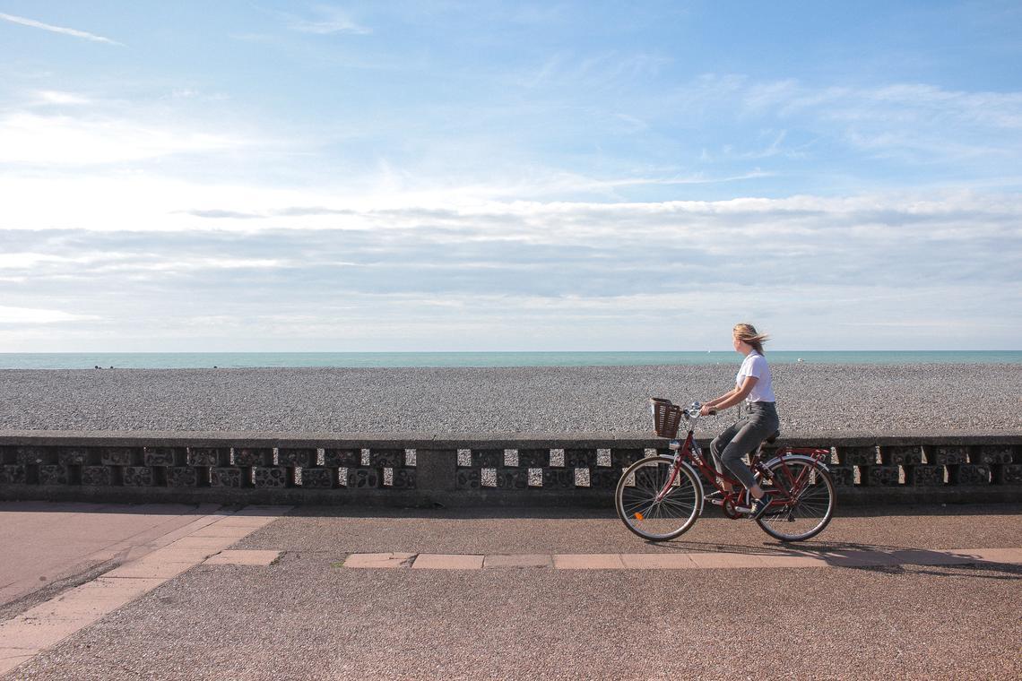 Vélo plage de Dieppe
