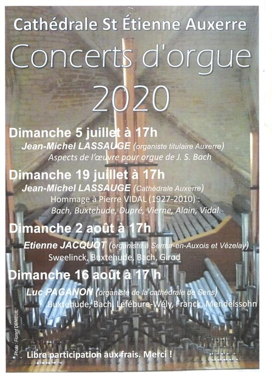 Concerts d'orgue 2020