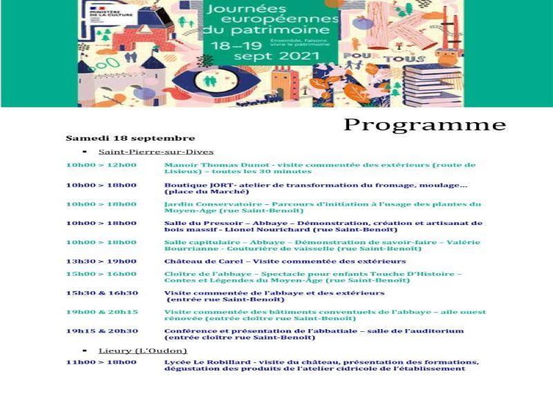 JOURNEE PATRIMOINE 2021 - P1