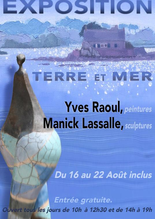 AFFICHE expo Yves RAOUL et Manick LASSALLE