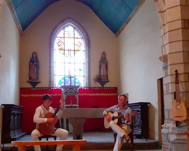 Nicolas Kuhn et Julien Coulon à la chapelle Saint-Pierre