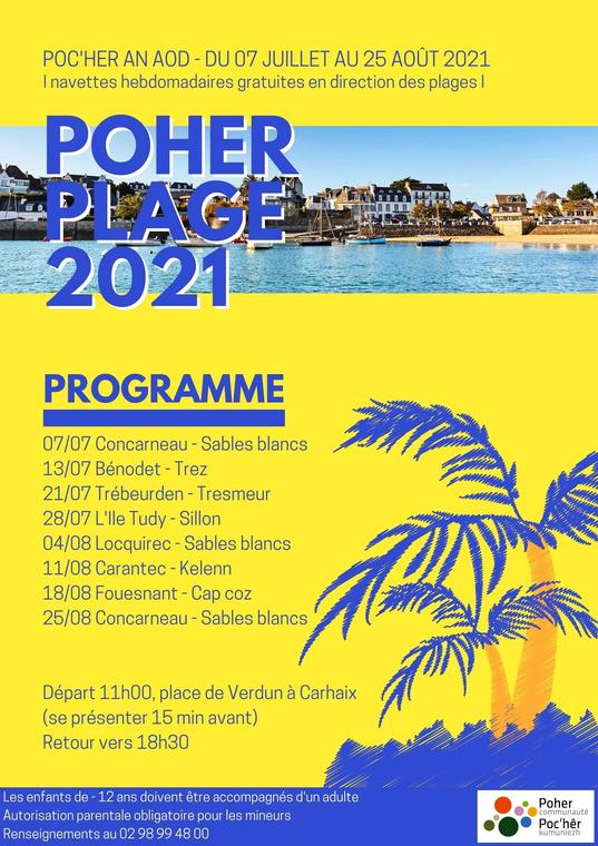 POHER PLAGE 2021