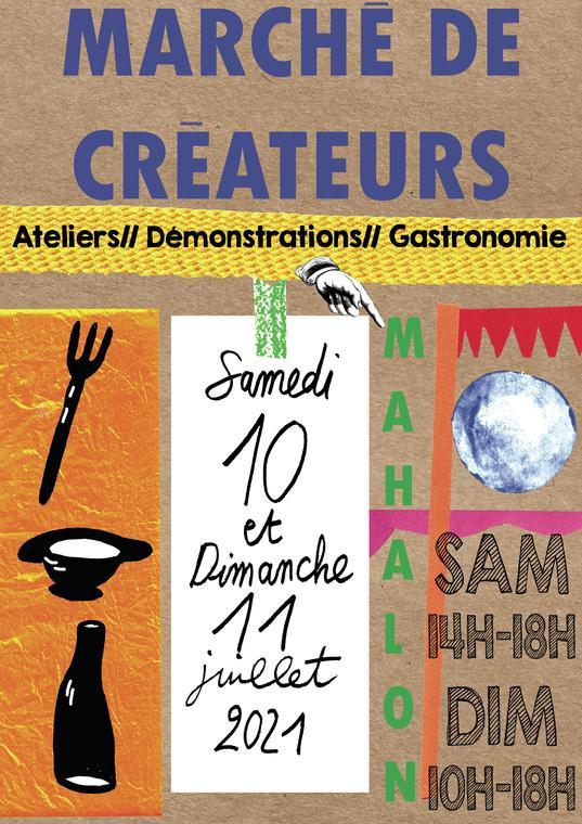 affiche marché des créateurs