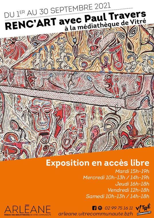 Exposition Renc'Art avec Paul Travers - 1er au 30 sept