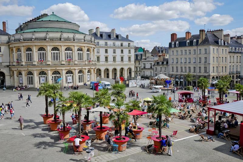 Transat en Ville place de la Mairie à Rennes