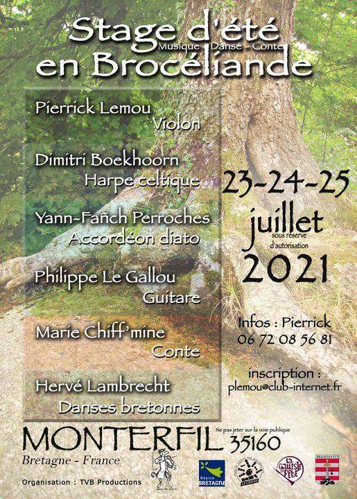 Stage d'été en Brocéliande 2021