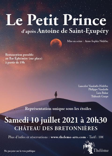 spectacle le petit prince au chateau des bretonnières - 20h30