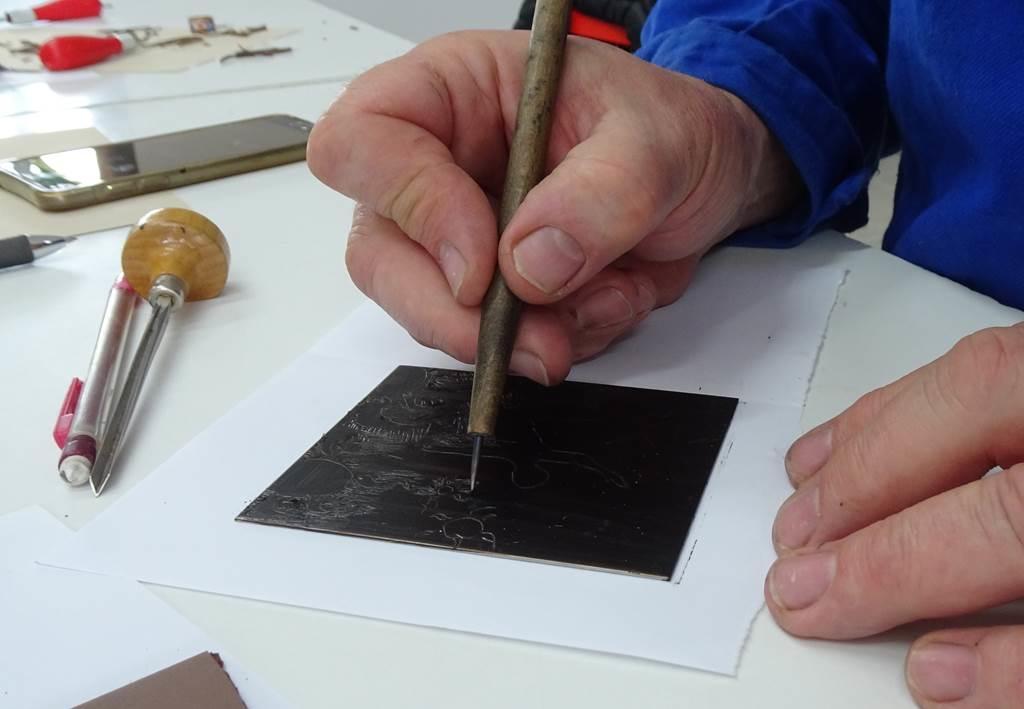 Atelier gravure impression