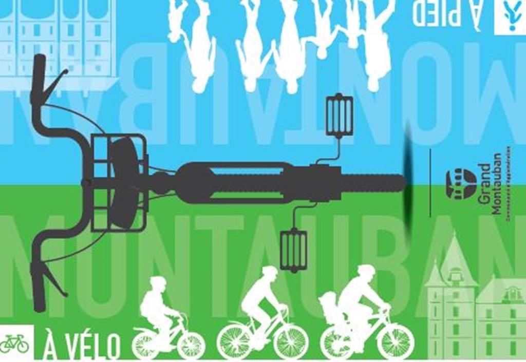 A pied, à vélo TM à vélo Montauban Tarn-et-Garonne