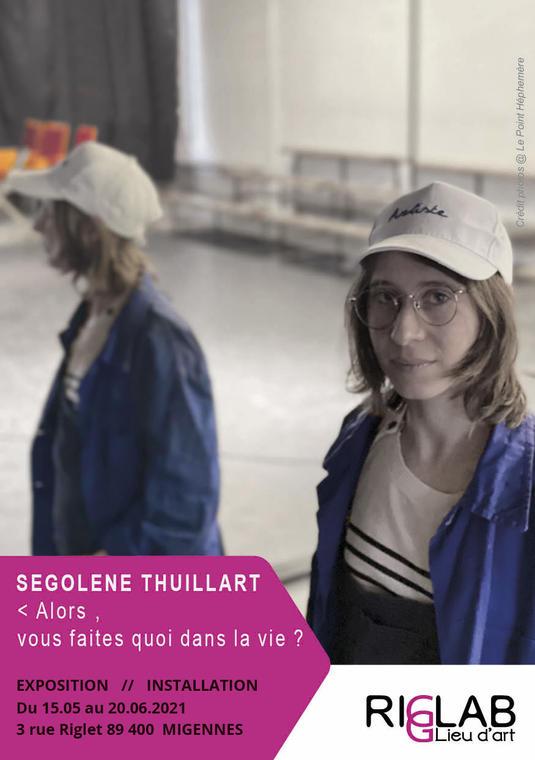 Flyer - Exposition Segolene Thuillart- recto