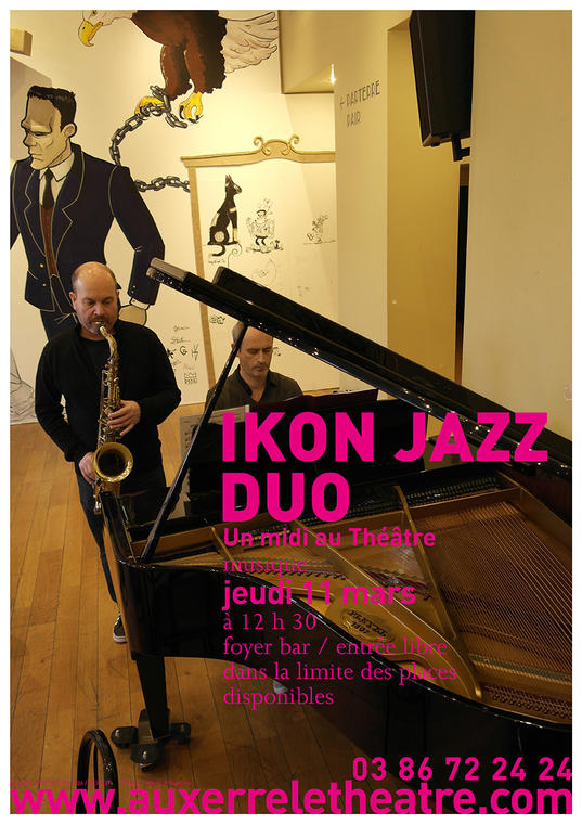Affiche A3 ikon jazz duo