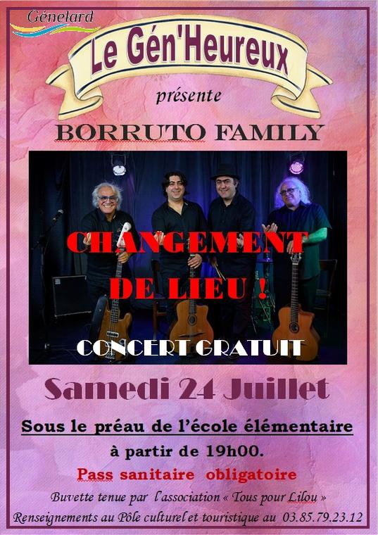 Affiche Borruto Family, Génelard