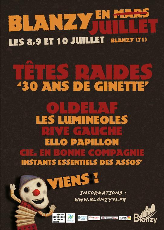 Affiche festival Blanzy en juillet