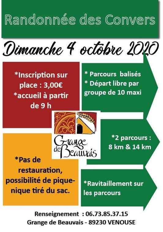 Rando des Convers Beauvais Venouse Dim 4 Oct