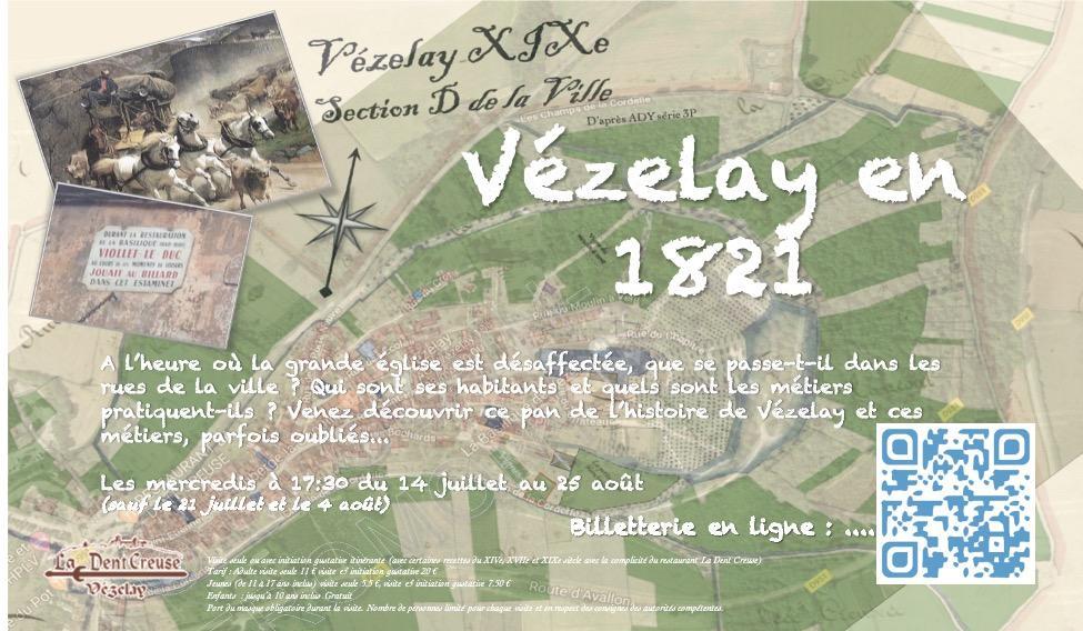 Vezelay 1821 Affiche