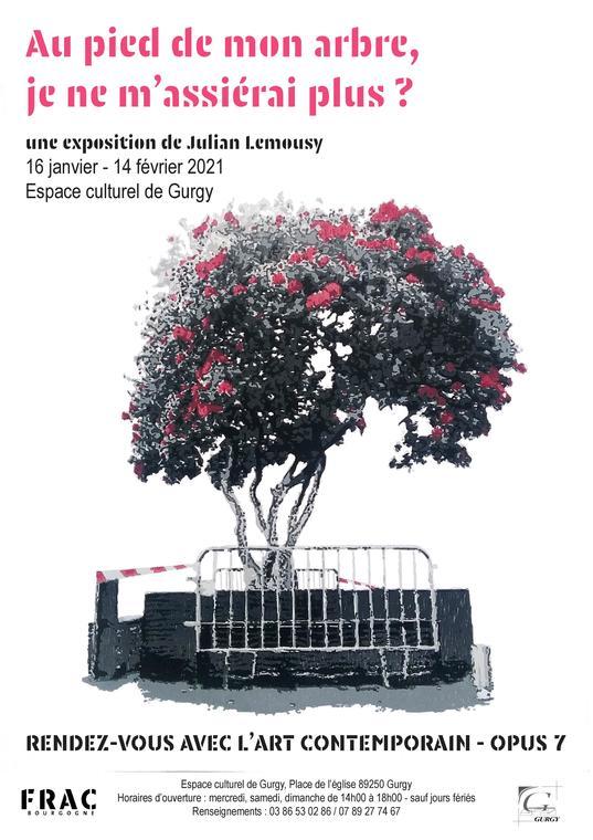 Affiche - exposition de Julian Lemousy