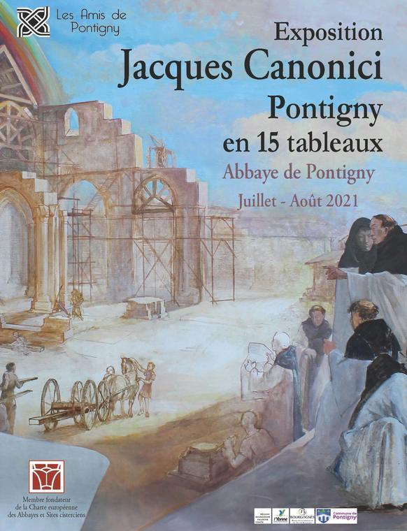 PONTIGNY EN 15 TABLEAUX EXPOSITION JACQUES CANONICI