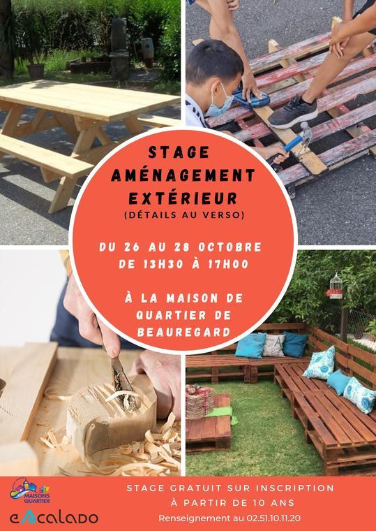 Stage aménagement extérieur