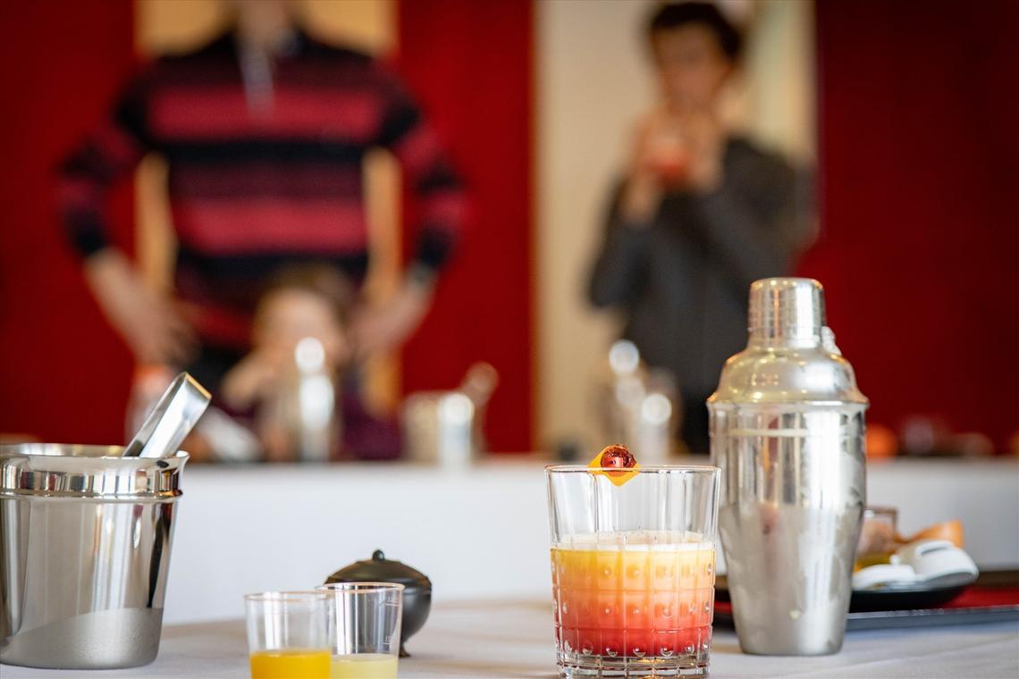 Cocktail à bord de Normandie