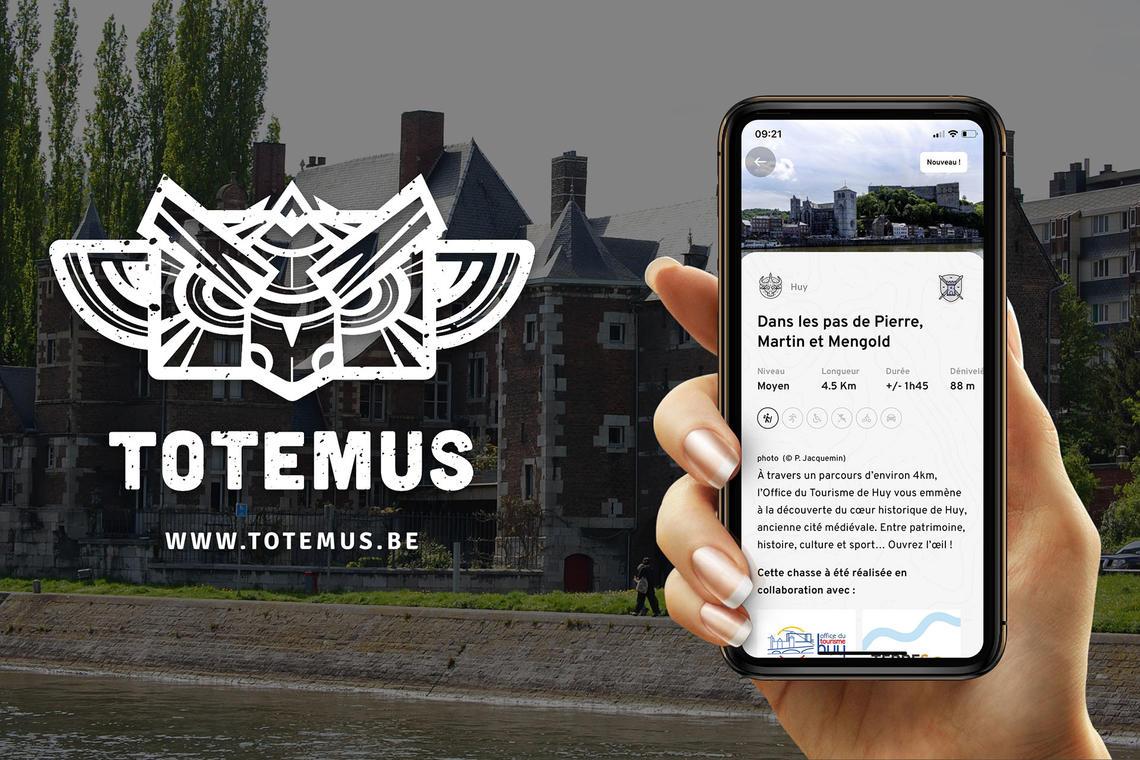 Chasses aux trésors Totemus - Huy - application