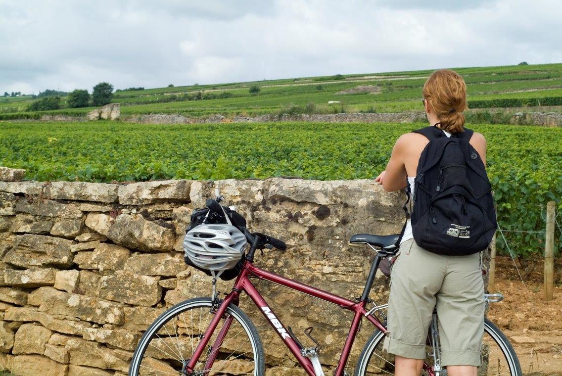 Cycliste muret