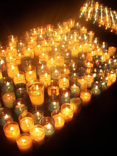 Bougies à la cathédrale