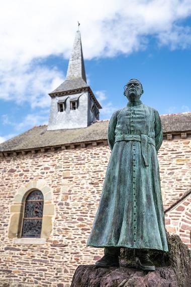 Statue de bronze par M. Thomazo Michael