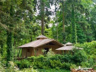 Cabane Bambou-1 Camping d'Aleth St-Malo de Beignon Brocéliande