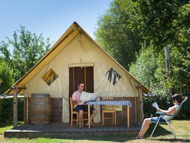 camping vallée du Ninian - insolite - tente fée viviane - Taupont