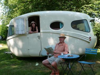Caravanes de collection au Domaine du Roc - Le Roc Saint-André - Val d'Oust - Morbihan - Bretagne