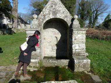 Fontaine de la chapelle Sainte-Catherine à Lizio - Morbihan - Bretagne