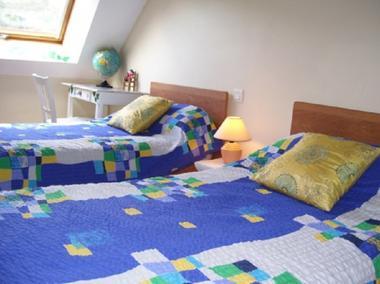 Gîte Guimard chambre twin - Pleucadeuc - Morbihan - Bretagne