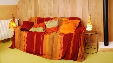 Gite Terre Compagne - salon chambre familiale