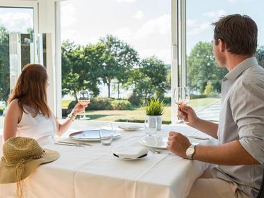 Restaurant - Les Chevaliers - vue sur lac - Ploërmel - Brocéliande - Bretagne