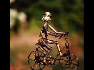 Poète Ferrailleur, vélo de métal - Lizio - Morbihan - Bretagne