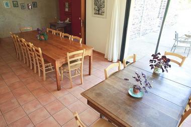 Salle a manger - Gite la Hulotte St-Malon-sur-Mel