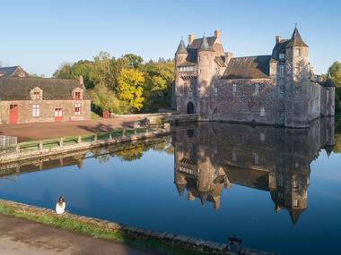 Chateau de Trécesson - façade - Campénéac - Brocéliande - Bretagne