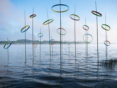 étangs d'art - exposition - art contemporain - lac au Duc - Ploërmel