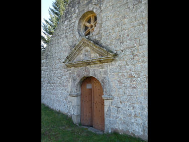 Fronton de la chapelle Sainte-Catherine à Lizio - Morbihan - Bretagne