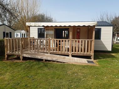 Camping - la vallée du Ninian - mobil home confort XXL Dagonet - Taupont