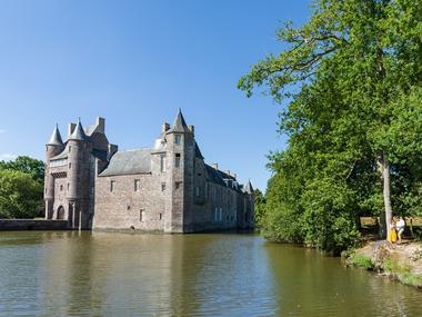 Chateau de Trécesson - vue - Campénéac - Brocéliande - Bretagne