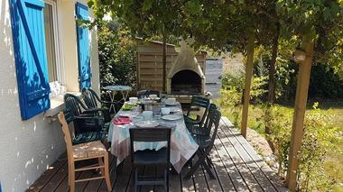 Le Cottage des Champs - terasse ombragée - Saint-Brieuc-de-Mauron - Bretagne