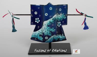 scupture kimono bleu WEB @Fusions&Créations