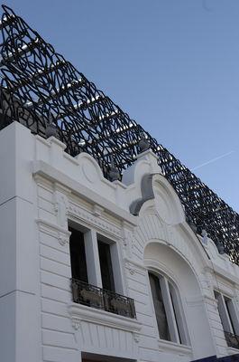 Cinéma détail de la façade