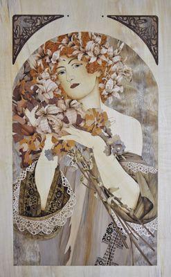 Flowers Mucha par Lydwine